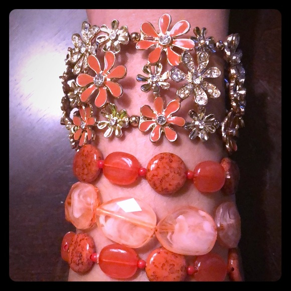 Jewelry - 2 Expandable Peach Colored Bracelets